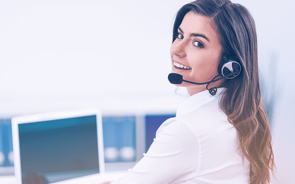Female model for contact center