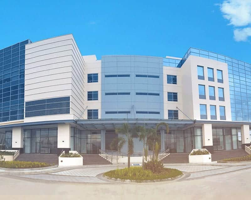 Front view Three Techno Place building